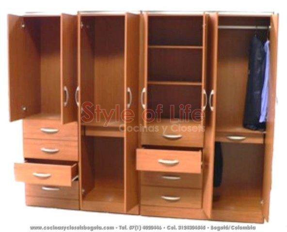 Closets bogota closets en madera closets modulares for Cocinas bogota precios