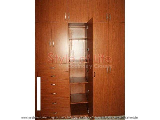 Closets bogota closets en madera closets modulares for Closets modernos bogota