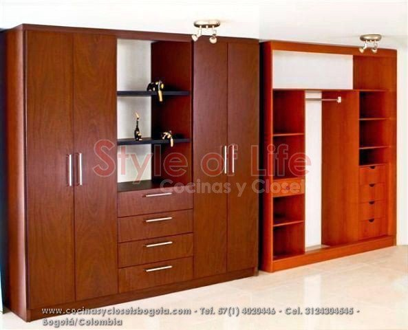 Closets bogota closets en madera closets modulares Planos de gabinetes de cocina gratis