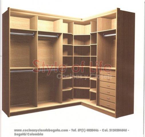 Closets bogota closets en madera closets modulares for Modelos de zapateras para closets
